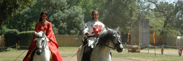 pas de deux à cheval, chateau de sagonne